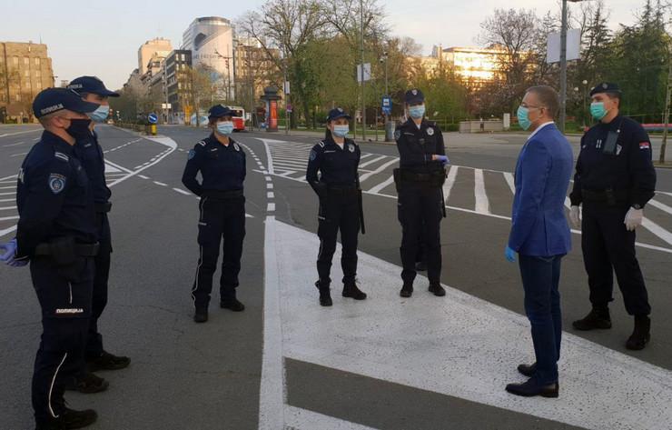 Nebojša Stefanovič, policijski službenici, policijski čas