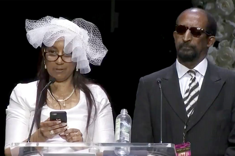 For Nipsey Hussle's mum, Angelique Smith who gave a very lengthy message, she talked about her son, their years together and her hope for the South Los Angeles community [PEOPLE