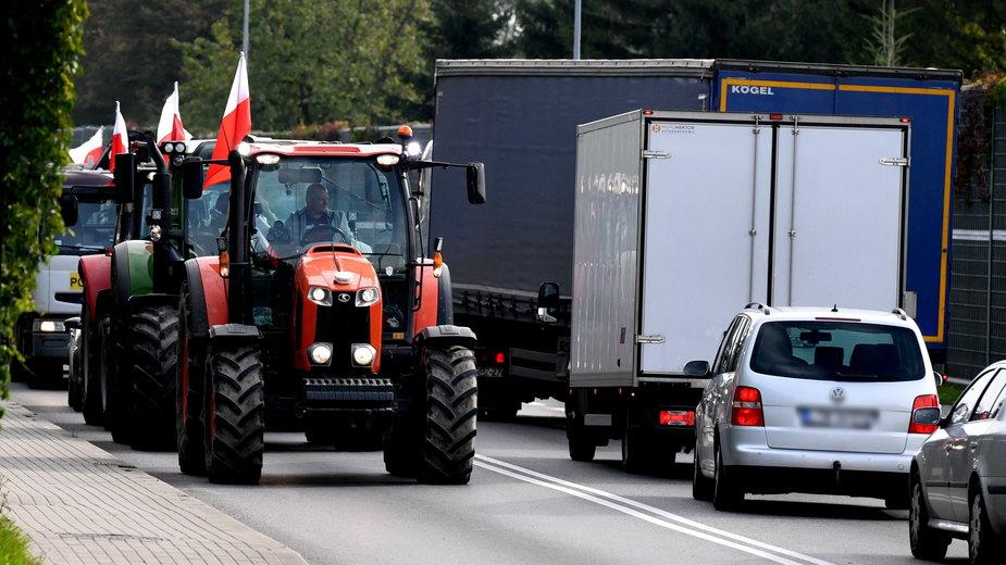Protest Agrounii na ulicach Jarosławia