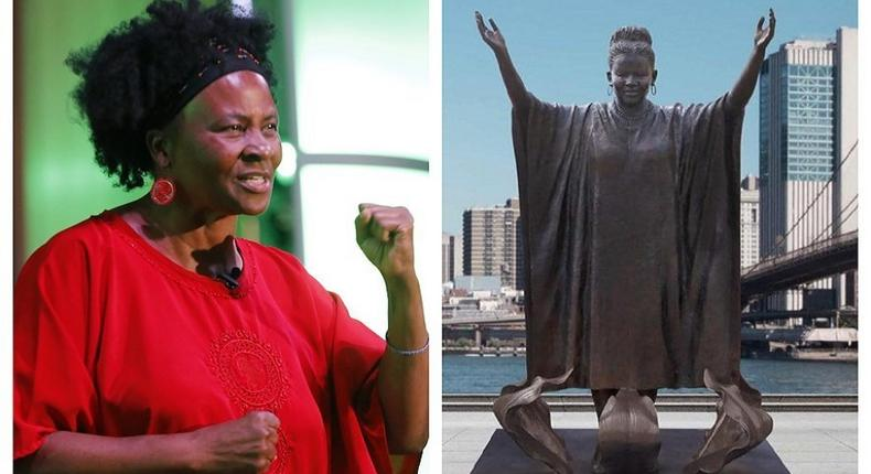 Trent gets a bronze statue erected in New York for being one of the 10 most inspiring women in the world (face2faceafrica)