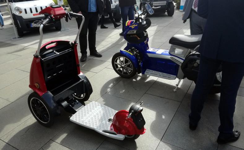 Platforma modelu Goodyear ego1 jest składana niczym scyzoryk. Po tej operacji pojazd przypomina wózek golfowy
