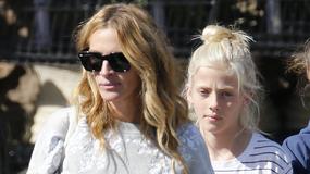 Julia Roberts z 10-letnią córką na zakupach. Dziewczynka odziedziczyła urodę po sławnej mamie?
