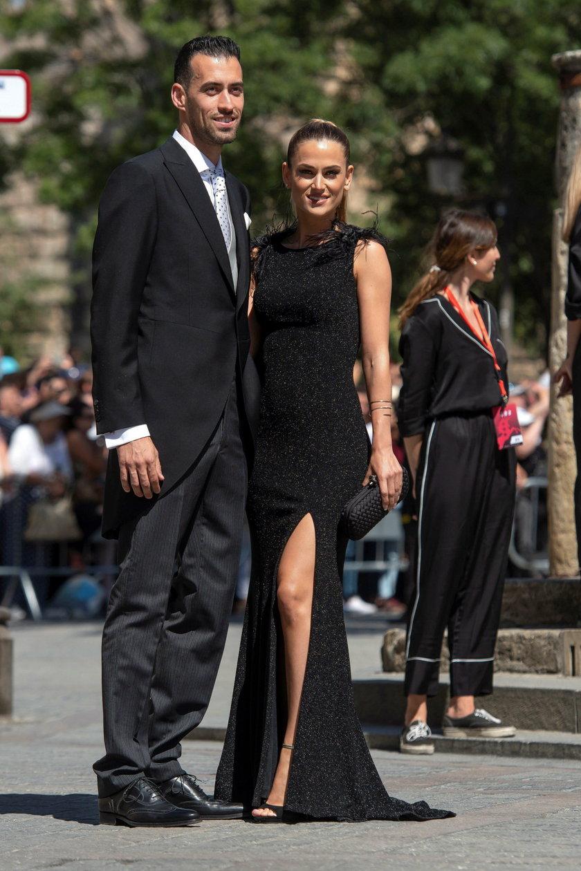 Sergio Busquets z żoną Aną Galerą