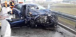 Opel wjechał pod prąd na autostradę A1. Nie żyje 44-letnia kobieta