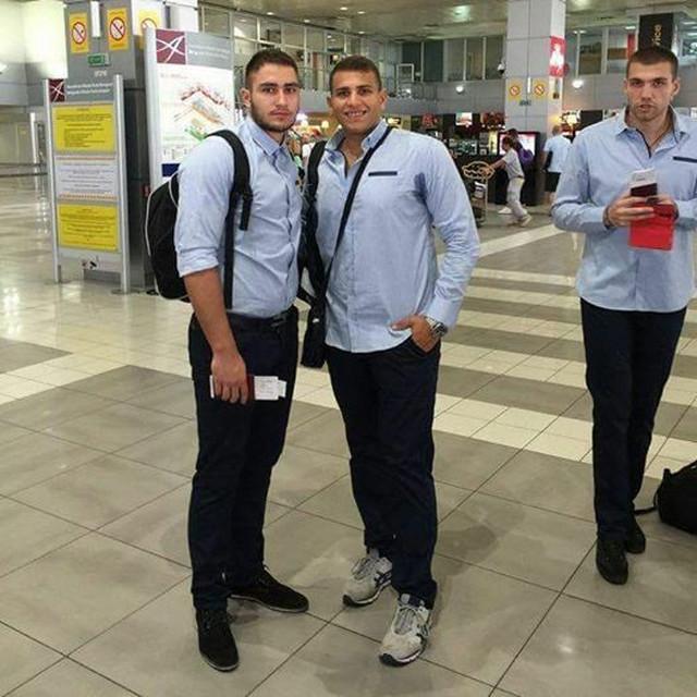 Nemanja Ratković (levo) pred polazak na Evropsko prvenstvo