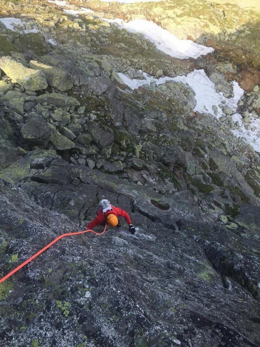 Justyna Kowalczyk wspina się po Tatrach!