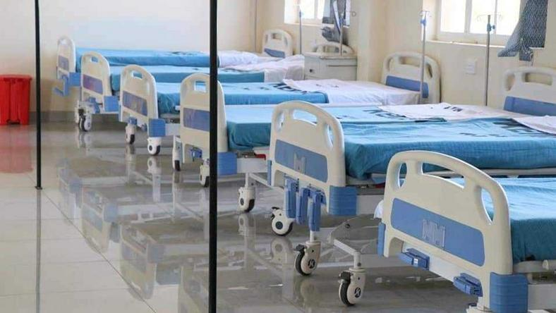 Beds at the newly opened Makueni Mother & Child Hospital in Wote