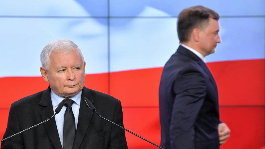 Jarosław Kaczyński i Zbigniew Ziobro 26 września