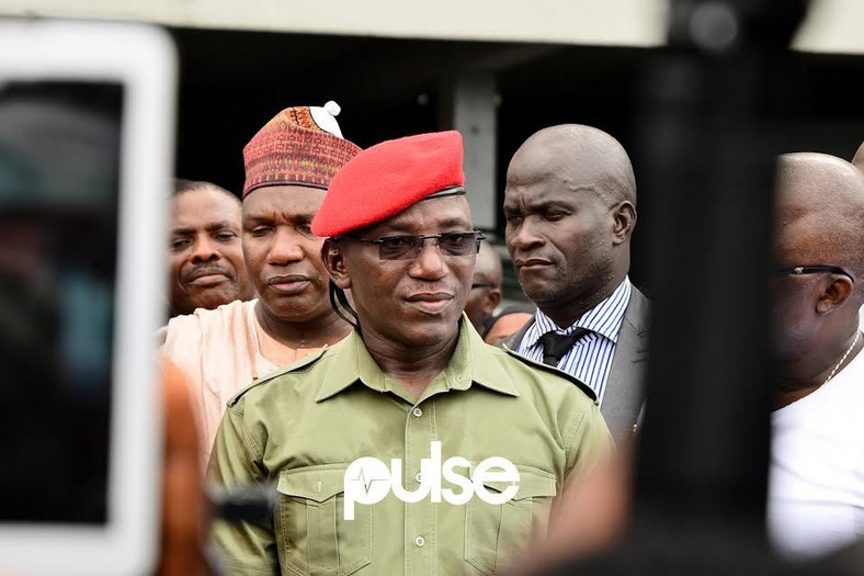 Sports Minister Solomon Dalung promised to fix the national stadium in Lagos, but nothing was done (Pulse)