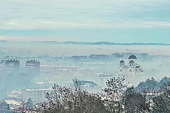 Valjevo: Grad koji se ne vidi od smoga