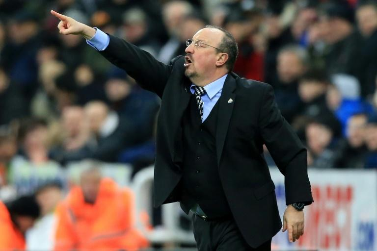 Pointing the way: Newcastle manager Rafael Benitez hopes a shock win over Manchester City will inspire his side to further success