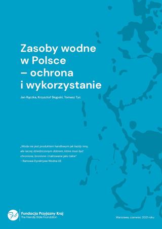 Zasoby wodne w Polsce. Raport. Okładka