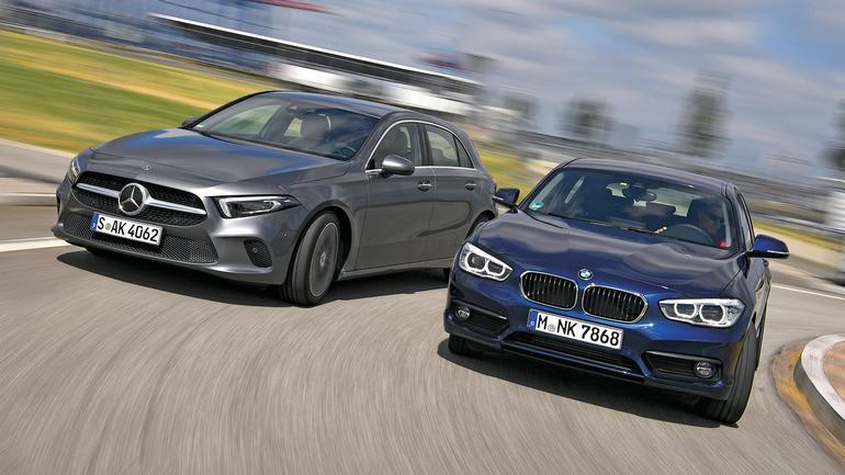 Kto tu jest gwiazdą? Porównanie: nowy Mercedes A180 d vs. BMW 116d