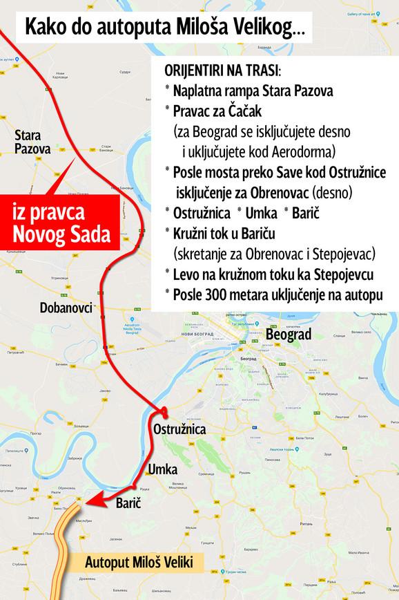 Uključenje Milošu Velikom iz pravca Novog Sada