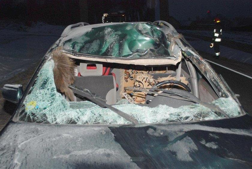 Auto zostało doszczętnie zniszczone
