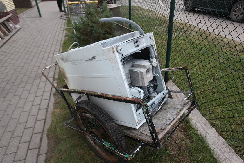 Wybuch pralki w Gdańska
