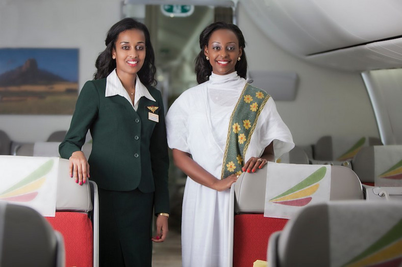 The flight from Addis Ababa - Stockholm on March 8, 2019, was operated by Ethiopian Airlines' female professionals