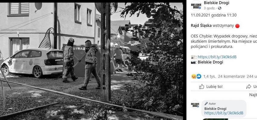 Dramatyczny wypadek na trasie Rajdu Śląska. Nie żyje pilotka