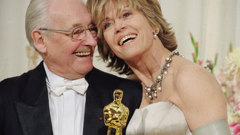 Andrzej Wajda i Jane Fonda