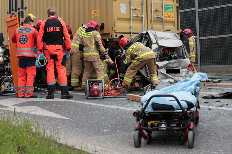 Wypadek w Kielcach