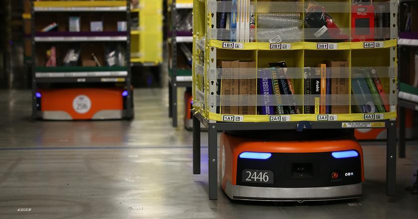 Roboty Kiva Systems usprawniają pracę magazynów Amazona