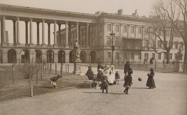 Pałac Saski od strony ogrodu / Konrad Brandel/Domena Publiczna