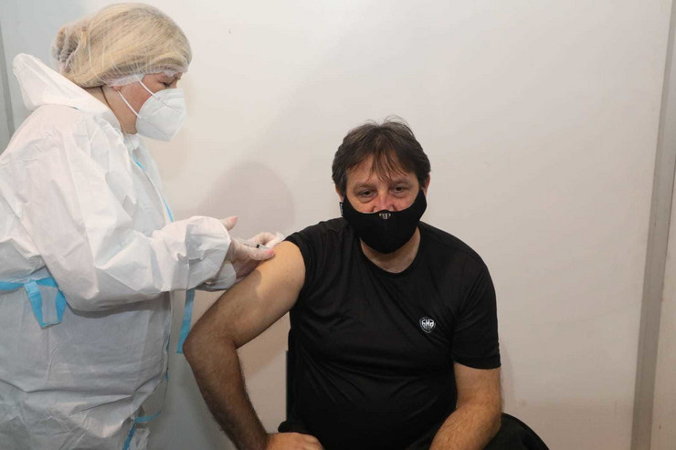 Bratislav Gašić, vakcinacija, Beogradski sajam