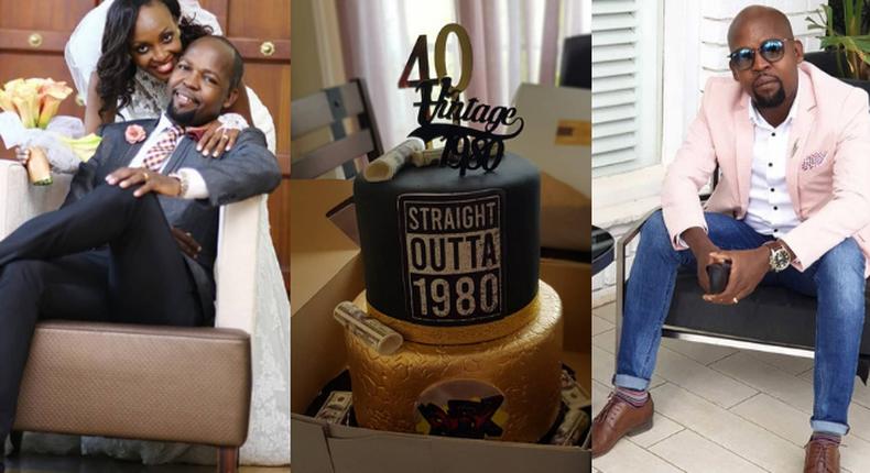 Alex Mwakideu's Wife pens down heartfelt message to hubby as he turns 40