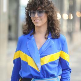 Kolorowa Natalia Kukulska na ulicy. Pasuje jej ta stylizacja?