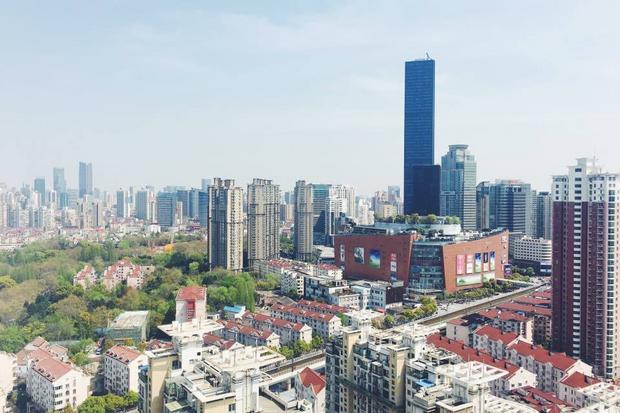 Widok na dzielnicę Changning