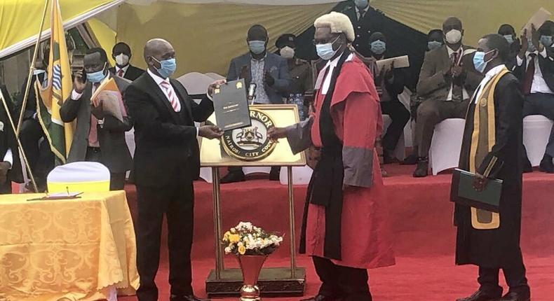 Speaker Benson Mutura sworn in as Acting Nairobi Governor (Courtesy)