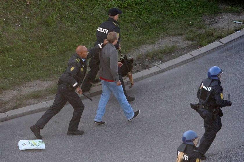 Chuligani Legii bili się z policją