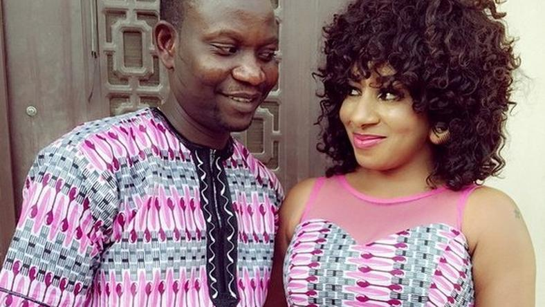 Mide Martins & husband, Afeez Owo