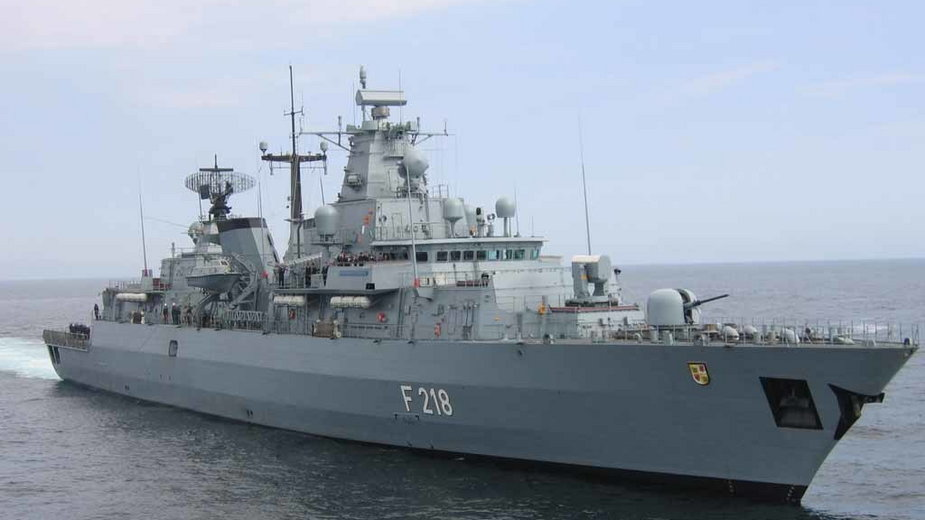 """Niemiecka fregata """"Mecklenburg-Vorpommern"""""""