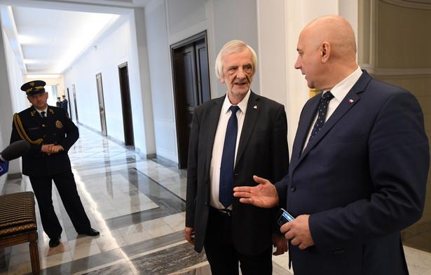 Wicemarszałkowie Sejmu Ryszard Terlecki i Joachim Brudziński