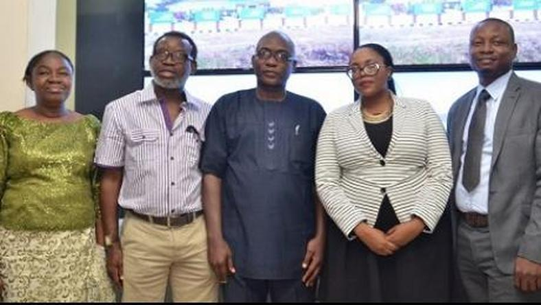 Samsung officials and Ekiti state government officials at the launch of the engineering academy