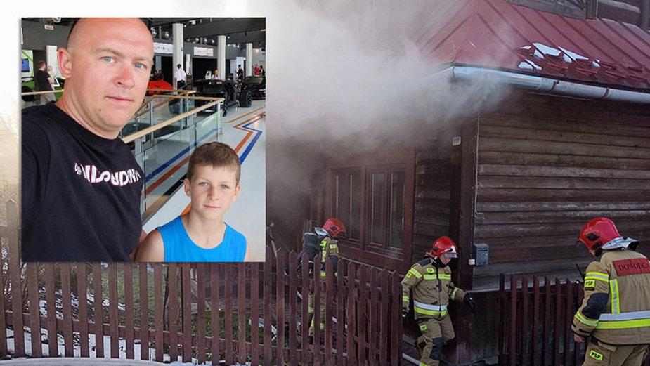 Szymon Gąsienica-Daniel i jego 11-letni syn Jaś uratowali seniorkę z pożaru