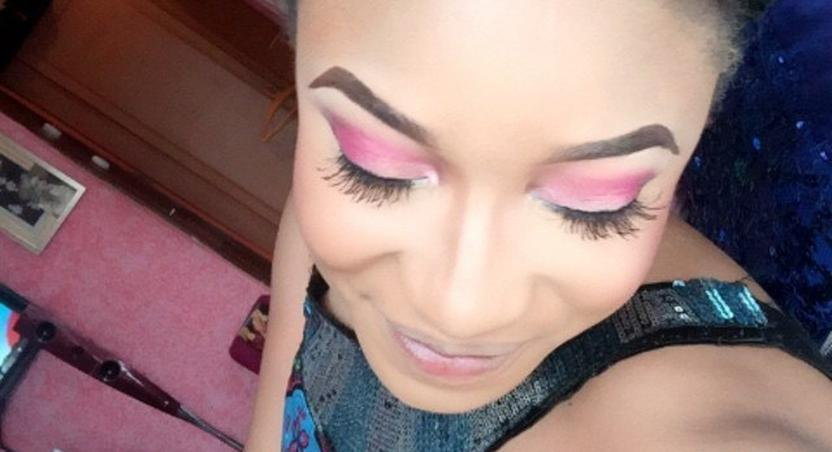 Tonto Dikeh showing off her new 'dog oriented' tattoo