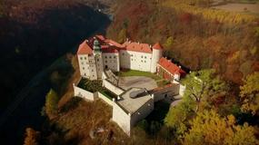 Zamek Pieskowa Skała z lotu ptaka