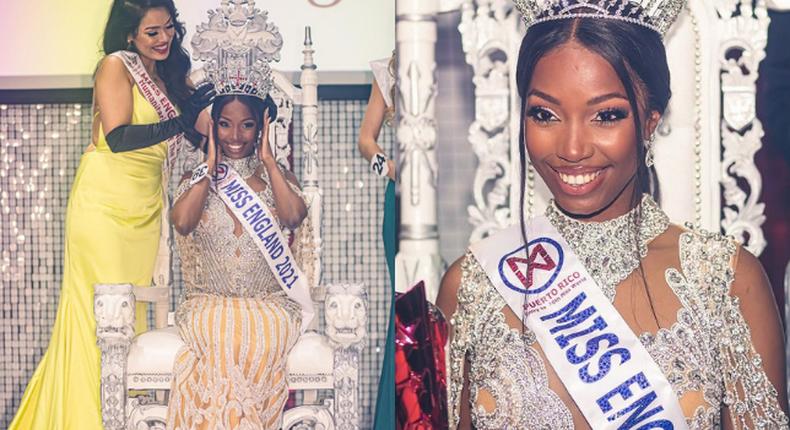 Kenyan-born Rehema Muthamia crowned Miss England 2021 (Photos)
