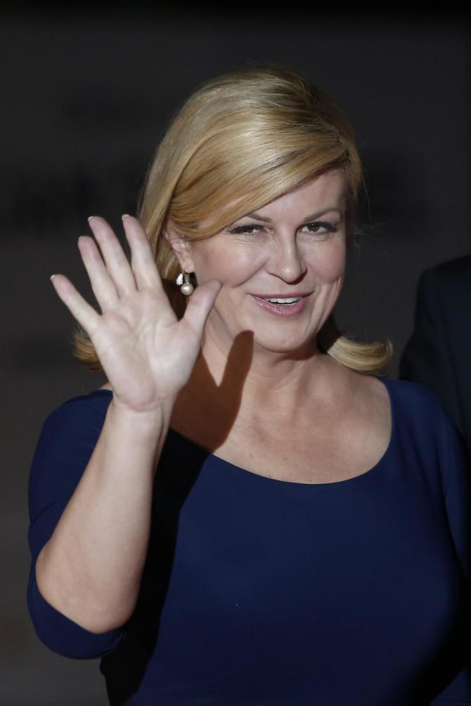 Predsednica Hrvatske Kolinda Grabara Kitarović juče u Parizu