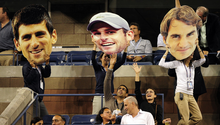 Endi Rodik, Novak Đoković, Rodžer Federer