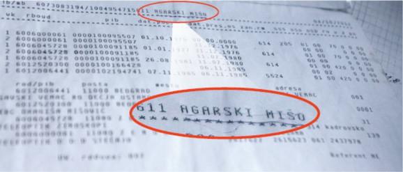 Dokaz: Pored matičnog broja Jevtićeve stoji ime Mišo Agarski