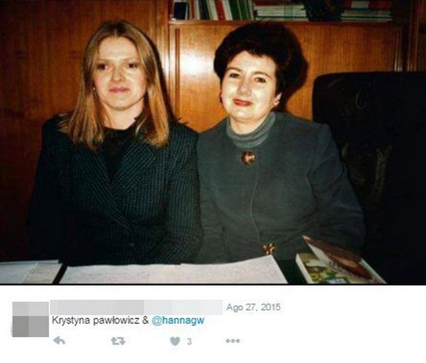 Krystyna Pawłowicz i Hanna Gronkiewicz-Waltz