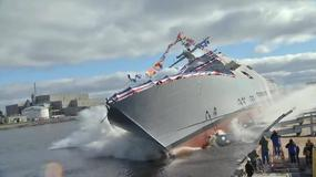 Wodowanie USS Detroit, najnowszego okrętu LCS typu Freedom