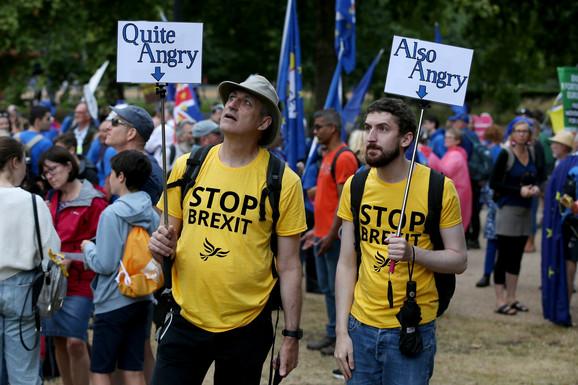 Stalni protesti u Londonu oko Bregzita