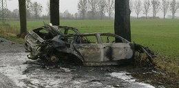 Kierowca spłonął żywcem!