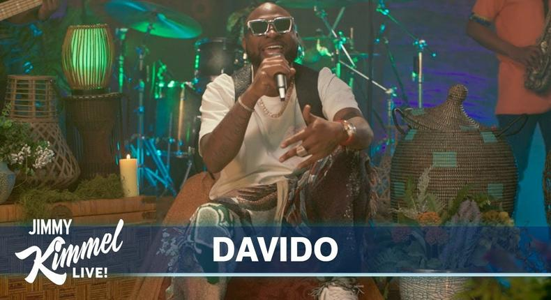 Davido performs 'Assurance' and 'Jowo' on Jimmy Kimmel Live! (Jimmy Kimmel Live/ABC)