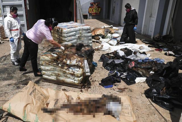 Beživotna tela migranata pronađena su u kontejneru