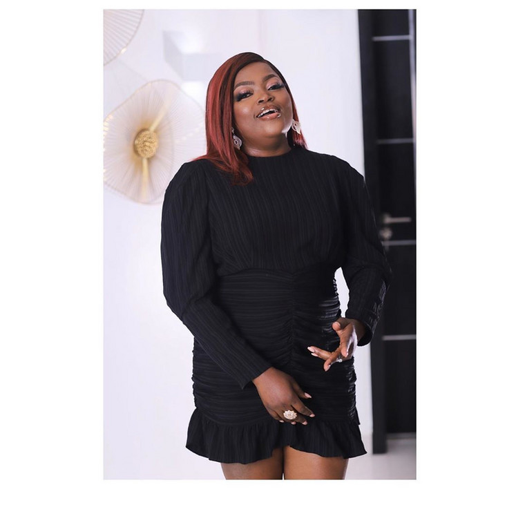 Funke Akindele-Bello at the 2020 AMVCA nominee cocktail party [Instagram]